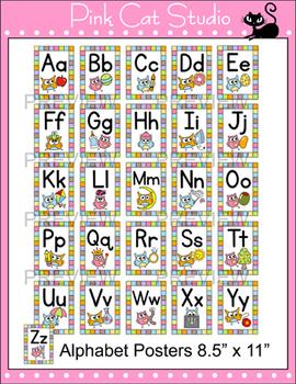 Alphabet Posters Owl Theme