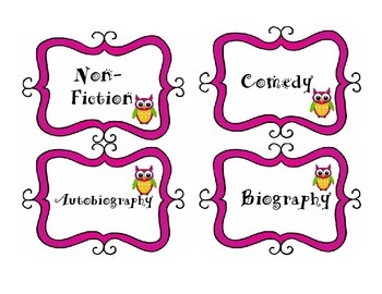 Owl Genre Labels