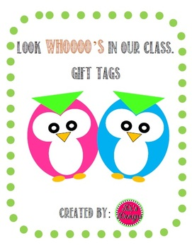 Owl Gift Tags to Welcome Students