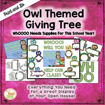 "Owl  ""Giving Tree""/ Wish List Donations"