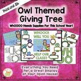 "Owl  ""Giving Tree""/ Wish List Donations"