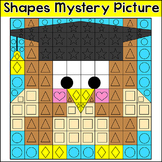 End of the Year Activities: Shapes Mystery Picture - Owl Graduate