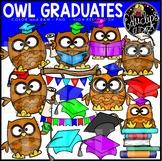 Owl Graduates Clip Art Set {Educlips Clipart}