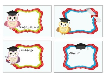 Owl Graduation Labels
