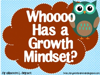 Owl Growth Mindset Posters (Whoooo Has a Growth Mindset?)