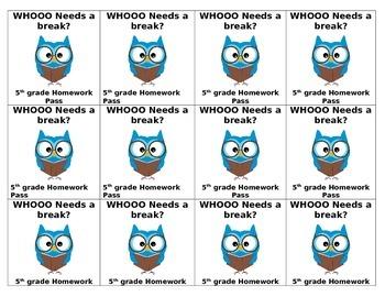Owl HW passess