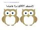 Owl Hallway Work Display