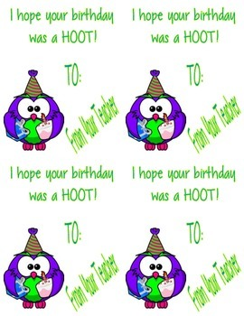 Owl Happy Birthday Cards