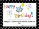 Owl Theme Happy Birthday Certificates