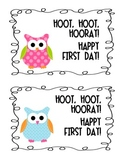 Owl Happy First Day of School Postcard