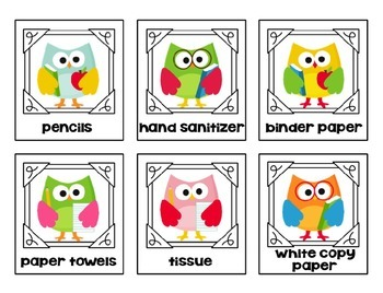 Owl Themed Classroom Wish List