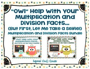 Owl Themed Multiplication and Division Cards Bundle