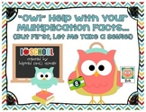 Owl Themed Multiplication Facts Cards