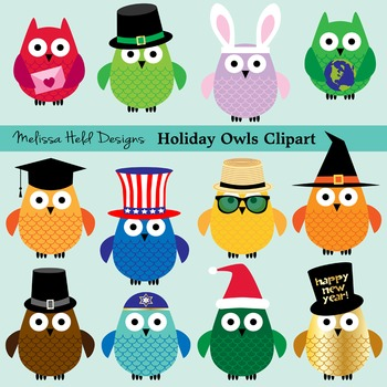 Owl Holiday Clipart