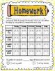 Owl Homework Data Sheets for 2014-2015
