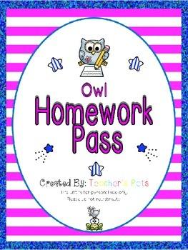 Owl Homework Pass