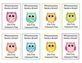 Owl Homework Passes