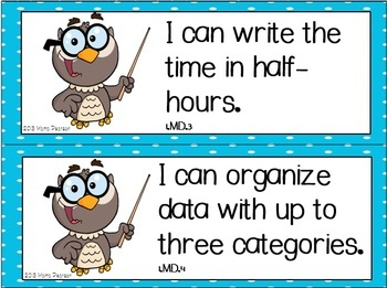 "Wise Owl ""I Can"" Statements"