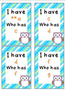 Owl I Have Who Has Phonograms