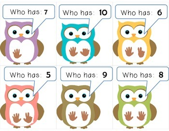 Owl:  I have ____.  Who has ____?  Set: 6-10