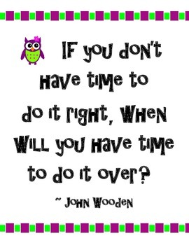 "Owl ""If You Don't Have Time..."" Motivational Quote Poster"