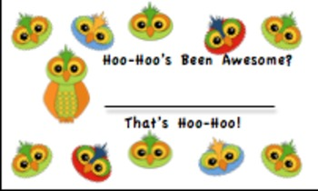 Owl Incentive Cards