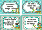 Owl Incentive Cards - Editable