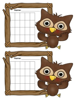 Incentive Charts with an Owl Theme
