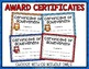 Owl Themed Classroom Incentive Charts and Award Certificates