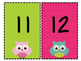 Owl Individual Alphabet and Number Signs - Two Versions