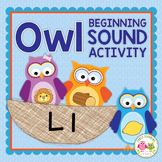 Owls: Owl Initial Sound Sort Activity for Early Childhood Education