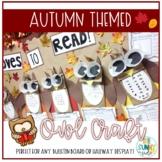 Fall Themed Owl Bulletin Board Craft/Hallway Display