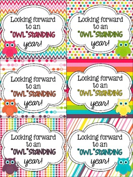 Owl-Inspired Welcome Tags {FREEBIE}