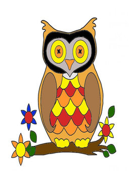 Owl Integer Operations Color by Number
