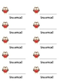 Owl Journal Labels