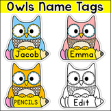 Owl Theme Name Tags & Locker Labels
