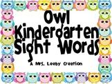 Owl Kindergarten Sight Words