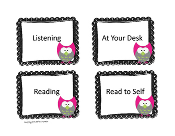 Owl Label Cards