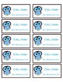 Owl Label for Folder/Notebooks