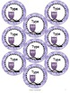 Owl Labels Name Tags - Circle, Square and Rectangular