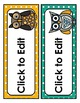 Owl Labels: Editable