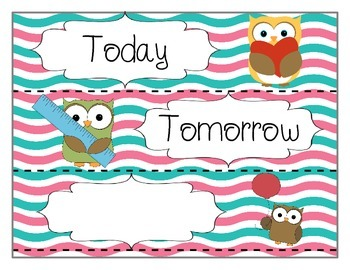 Owl Labels (Freebie)