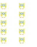 Owl Labels - Set of Multicolor
