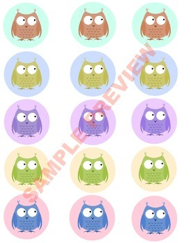 Owl Labels for Classroom Use