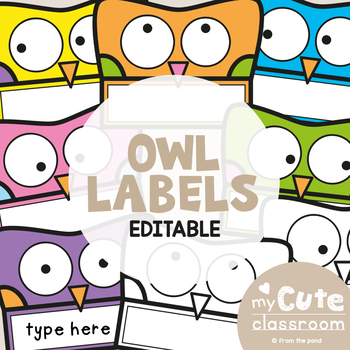 Owl Labels for the Classroom {Editable}