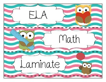Owl Labels (six blank)