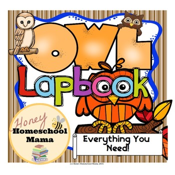 Owl Lapbook with Reading - 110 Pages for a Great Unit Study