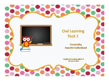 Owl Learning Pack 1