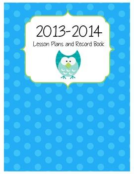 Owl Lesson Plan Binder