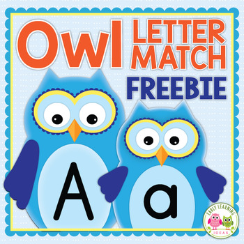Free Alphabet Match Activity for Preschool and Early Childhood | Owl ABC Match